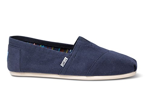 -  TOMS Men's Classic Canvas Slip-On, Navy - 12 D(M) US
