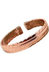 Mens Solid Copper Magnetic Bracelet Kent Medium with Gift Box