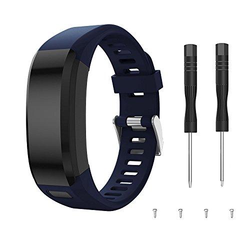 Junboer Compatible Garmin Vivosmart HR Watch Band, Accessories Adjustable Soft Silicone Replacement Wrist Watch Strap Designed for Garmin Vivosmart HR Smart Sport Watch(NO for Vivosmart HR+)