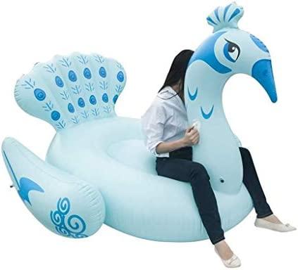 ZXF Piscina Flotante, Pavo Real Gigante pájaro Mayor Piscina ...