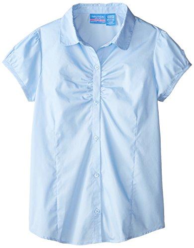 Nautica Uniform Short Sleeve Blouse Shirring