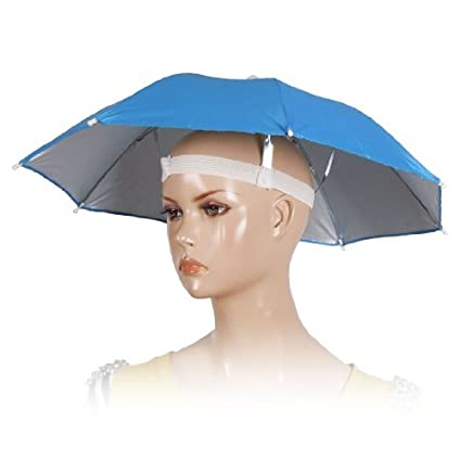 Amazon.com : DealMux Pesca Golfe Praia Azul poliéster Headwear Hat Umbrella : Sports & Outdoors