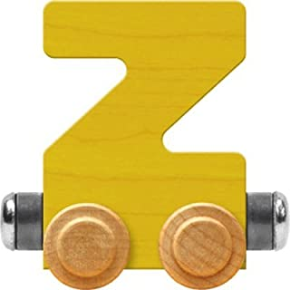 product image for Maple Landmark NameTrain Bright Letter Car Z - Made in USA (Yellow)