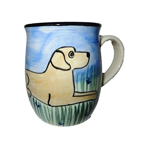 Karen Donleavy Designs Deluxe Mug YELLOW Labrador Retriever