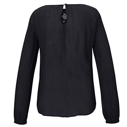 [S-2XL] レディース Tシャツ 蕾丝 無地 長袖 トップス おしゃれ ゆったり カジュアル 人気 高品質 快適 薄手 ホット製品 通勤 通学