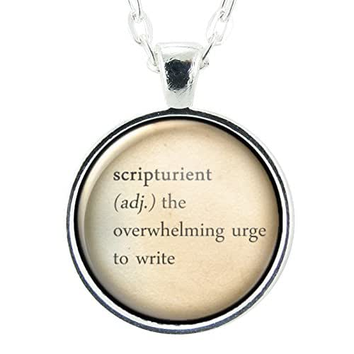 definition handmade writers gift dictionary jewelry scripturient 7389