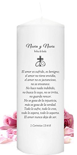 (Unity Candles personalized in Spanish )