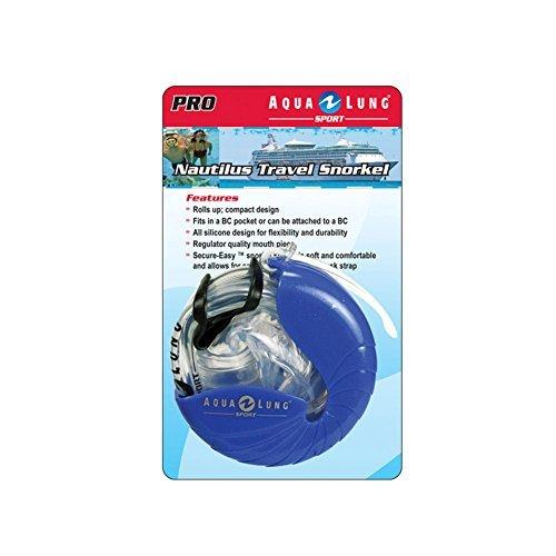Aqua Lung Scuba Nautilus Snorkel Roll Up Diving Gear Snorkeling Swimming Sport Set