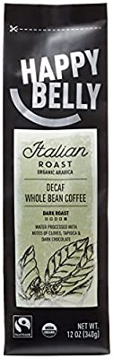 Happy Belly Organic Fairtrade Coffee, Whole Bean, 12 ounce