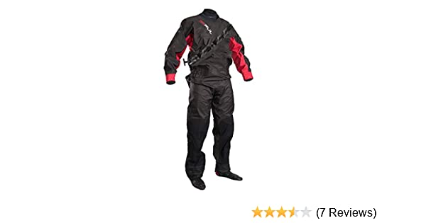 GUL 2018 Dartmouth Eclip Zip Drysuit Black/RED GM0378-B5 with Free Undersuit