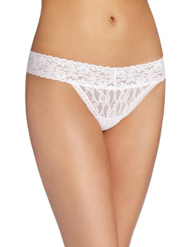 Maidenform Women's All Lace Thong Panty, White, One Size