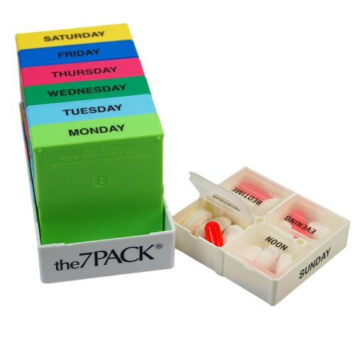 Borinhalbich The 7Pack® 7 Day 4 Compartment Weekly Pill Org