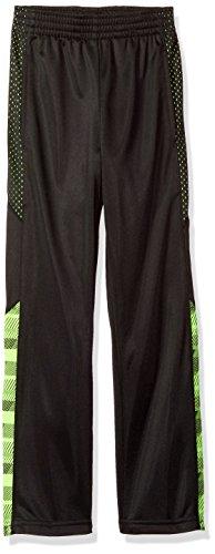 STX Boys' Little Boys' Varied Stripe Tricot Sport Pant, Neon Lime, 4