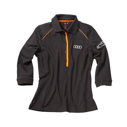 Audi 3131204603 Polo para Mujer, Gris/Naranja, Talla M: Amazon.es ...