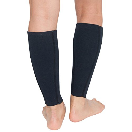 Delfin Spa Heat Maximizing Compression Calf Sleeves - Large Black