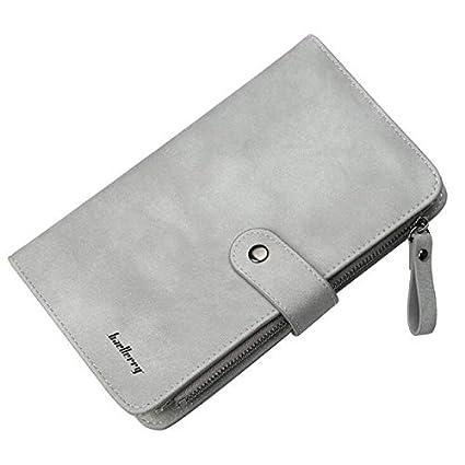 Amazon.com: Carteras de piel sólida con bolsillos para ...