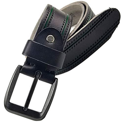- Alice & Elmer Men's Belt Genuine Full Grain Leather Belts For Men Jeans Dress Casual Work Heavy Duty 8045 (Waist Size:38'',Black)