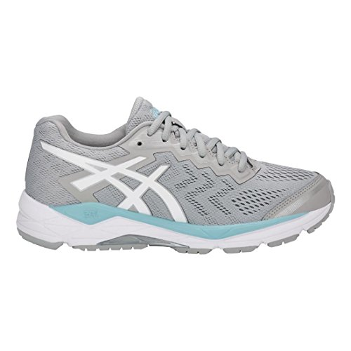 Fortitude ASICS Grey Porcelain Blue Gel D Shoe White Mid Running 8 Women's BErUZwqB