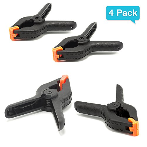 EACHPOLE |4-Pack|4.5 inch Nylon Spring Clamp for Home Improvement Projects and Photography Studio Set Ups, APL1766