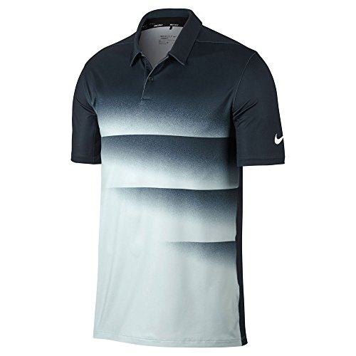 (Nike Dry Fit Engineered OLC Golf Polo 2017 Armory Navy/White Small)