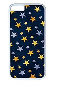 Blue Yellow Stars Slim Hard Cover for iPhone 6 Case (4.7 inch) PC White Cases