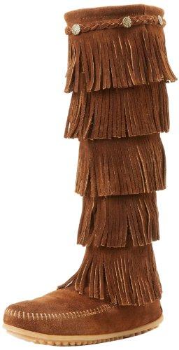 Minnetonka Boot Brown Dusty Layer Women's Fringe wrFqxY6r