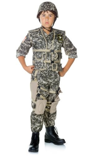 [Army Ranger Deluxe Kids Costume Medium] (Army Men Halloween Costumes)