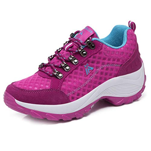Athletic Climbing Hiking for Rose Trail Women Lightweight Hiker Shoes Running Non Mesh Sneaker Slip Red Outdoor gHcqr67Pg