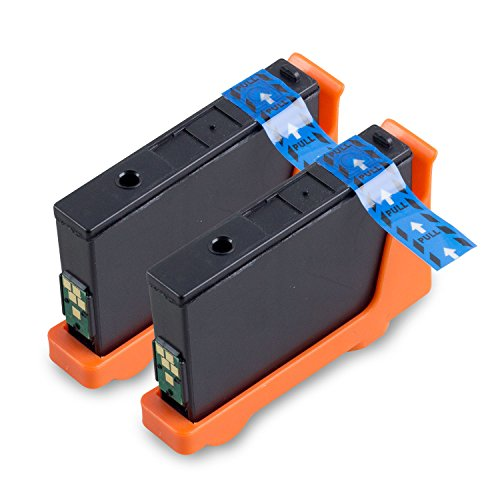 2PK Cyan - SOJIINK Dell Compatible 8C4HK ( Series 31 ) DL-31 32 33C for V525w V725w All-in-One Wireless Inkjet Printer