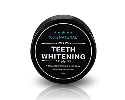 Teeth Whitening Powder with Coconut Activated Charcoal - Organic Safe Effective Tooth Whitener Solution for Stronger Healthy Whiter Teeth All Natural