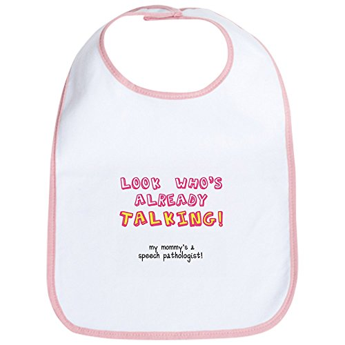 CafePress - LOOK WHO's TALKING - Cute Cloth Baby Bib, Toddler Bib