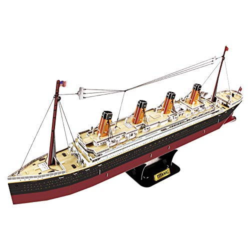 Titanic 3D Puzzles for Adults and Kids   Ship Model Kit   186 Pieces   by POP-OUT WORLD ()