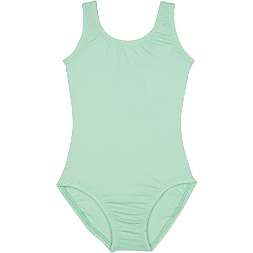Toddler and Girls Tank Leotard for Dance, Gymnastics, and Ballet Sleeveless Mint Green L (10)