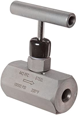 "NOSHOK 400 Series 316 Stainless Steel Hard Seat Needle Valve, 1-1/2"" NPT Female, 10000 psi Pressure Range by NOSHOK, Inc."