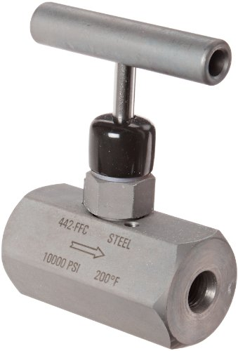 NOSHOK 400 Series 316 Stainless Steel Hard Seat Needle Valve, 1-1/4'' NPT Male x 1-1/4'' NPT Female, 10000 psi Pressure Range by NOSHOK