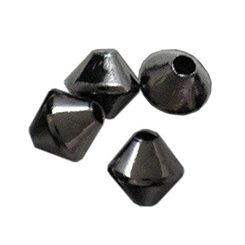 BICONE METAL 3mm SPACER BEADS SOLID SEAMLESS 100pc (Metal Bicone)