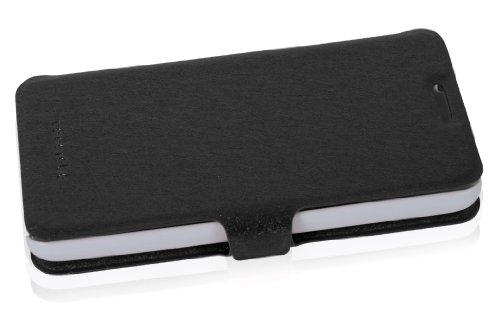 Cadorabo - Funda Book Style en Diseño FINO para Huawei ASCEND G520 / G525 - Etui Case Cover Carcasa Caja Protección con Tarjetero y Función de Soporte en ROJO NEGRO
