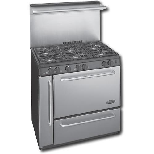 """UPC 717309022687, Premier P36S138BP PRO 36"""" Stainless Steel Gas Open Burner Range"""