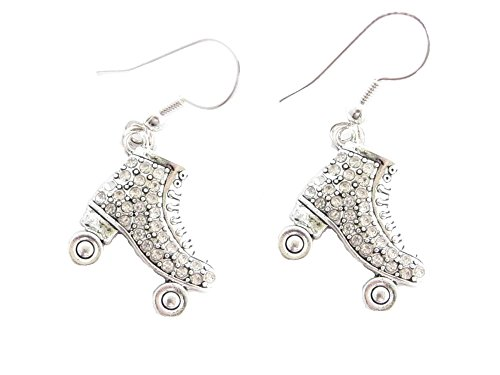 Roller Skate Clear Crystals Fashion French Hook Earrings]()