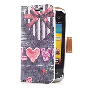Heart Shape Gift Box Style Leather Case with Card Slot and Stand for Samsung Galaxy Y Duos S6102