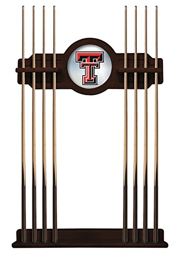 Holland Bar Stool Co. Texas Tech Cue Rack in English Tudor Finish (Tech Pool Table Cover)