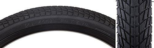 "Sunlite Freestyle BMX Kontact Tires, 20"" x 1.75"", Black/Blac"
