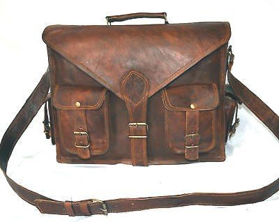 cc5a11e6582e Handmadecraft ABB 18 Inch Vintage Handmade Leather Messenger Bag for Laptop  Briefcase Satchel Bag