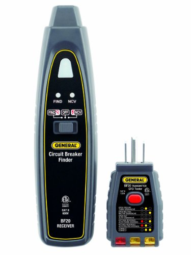 General Tools BF20 Circuit Breaker Finder with Non-Contact Voltage Detector and GFCI Outlet Checker