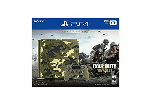 41NK%2BVwAhJL - PlayStation-4-Slim-1TB-Limited-Edition-Console-Call-of-Duty-WWII-Bundle-Discontinued