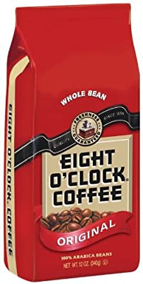 Eight O'Clock Coffee Coffee Original Whole Bean, 12-Ounce Pouches (Pack of 12)