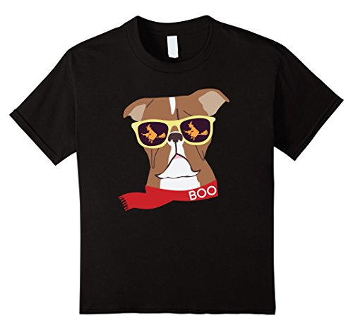 Kids Boxer Dog Shirt for Halloween With Witches and Singlasses 12 - Singlasses