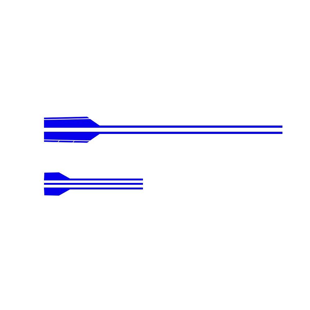 Vinilo Franja De Rayas Calcoman/ía Etiqueta para BEZN AMG A C E G Class Concept Coupe CLS Decoraci/ón Pegatinas de Cuerpo Lateral de Coche Negro 2 Piezas