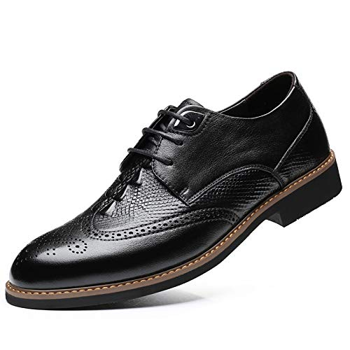 Zapatos Respirable de Negocios Black Zapatos los Casuales de Tallado Hombres de de cocodrilo 38 patrón Color Size Hombres de EU Yao cuñas los Cuero Zapatos Puntiagudos dwpBF7WFnq