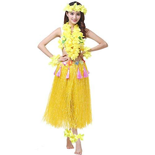5pcs Womens Halloween Costume Set Elastic Hawaiian